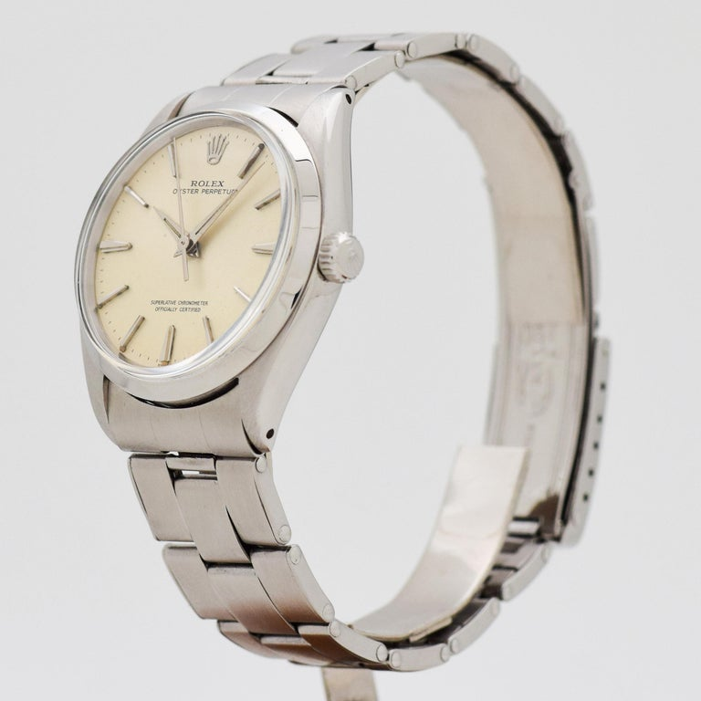 Vintage Rolex Oyster Perpetual Reference 1002 Stainless Steel Watch ... 9fd89585232
