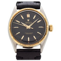 Vintage Rolex Oyster Perpetual Reference 6085 14 Karat YG & SS Watch, 1953