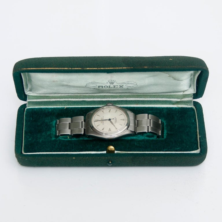 Vintage Rolex Oyster Perpetual Stainless Steel Men's Watch Ref. 6084 For Sale 2