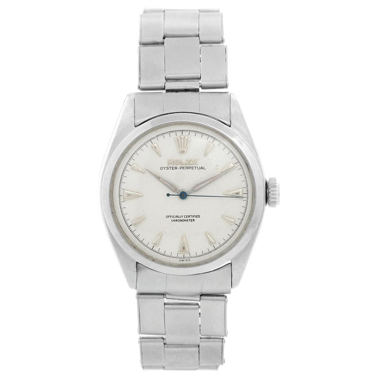 Vintage Rolex Oyster Perpetual Stainless Steel Men's Watch Ref. 6084 For Sale