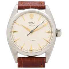 Vintage Rolex Oyster Royal Stainless Steel Watch, 1961