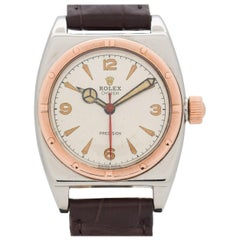 Vintage Rolex Oyster Viceroy 10 Karat Rose Gold and Stainless Steel Watch, 1943