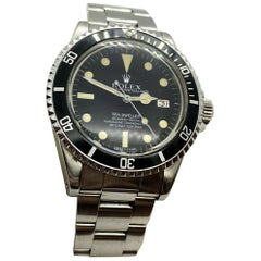 Vintage Rolex Sea Dweller 1665 Stainless Steel Creamy Patina, 1981