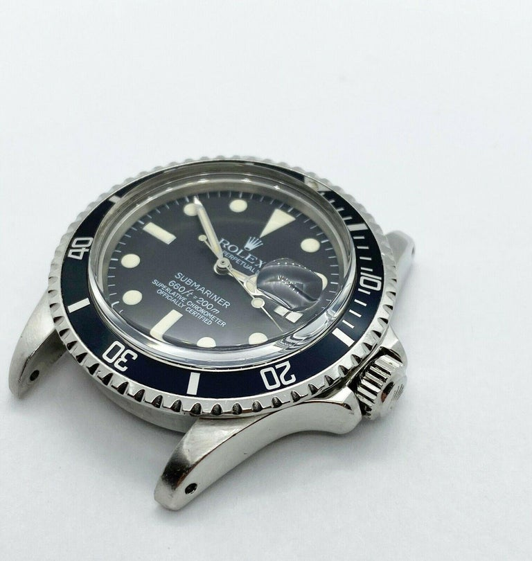 HEAD ONLY / ORIGINAL MINT DIAL AND HANDS   Style Number: 1680  Serial: 2385***  Year: 1967  Model: Submariner  Case Material: Stainless Steel   Bezel: Black  Dial: Black  Face: Acrylic  Case Size: 40mm  Includes:  -Elegant Presentation Box