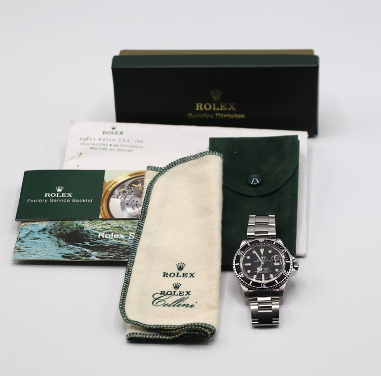 Vintage Rolex Submariner 1680 Stainless Steel Watch, circa 1979 For Sale 10