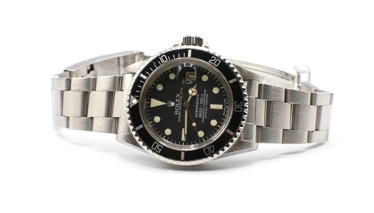 Vintage Rolex Submariner 1680 Stainless Steel Watch, circa 1979 For Sale 4
