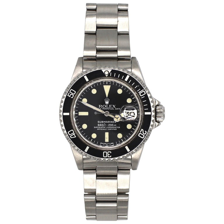 Vintage Rolex Submariner 1680 Stainless Steel Watch, circa 1979 For Sale