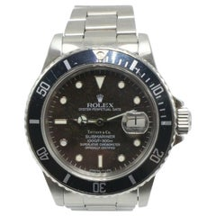 Vintage Rolex Submariner 16800 Tiffany & Co Dial Stainless Steel Watch Very Rare