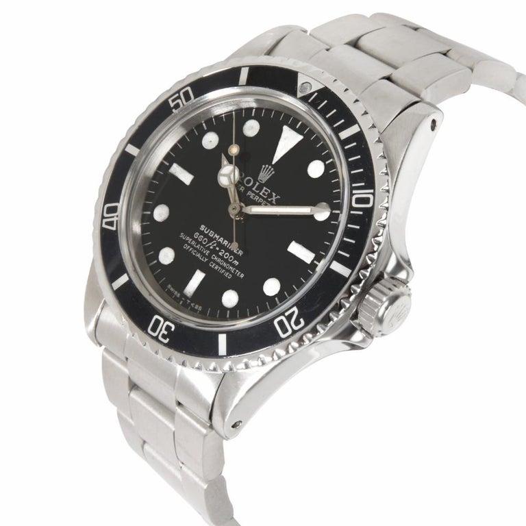 Modern Vintage Rolex Submariner 5512/5513 Men's Watch in Stainless Steel For Sale