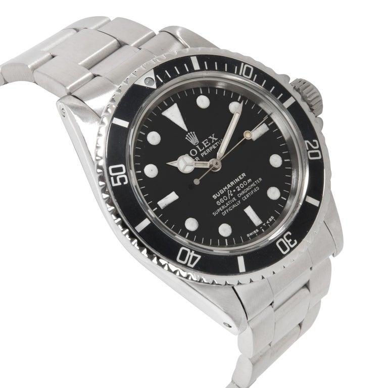 Vintage Rolex Submariner 5512/5513 Men's Watch in Stainless Steel For Sale 1