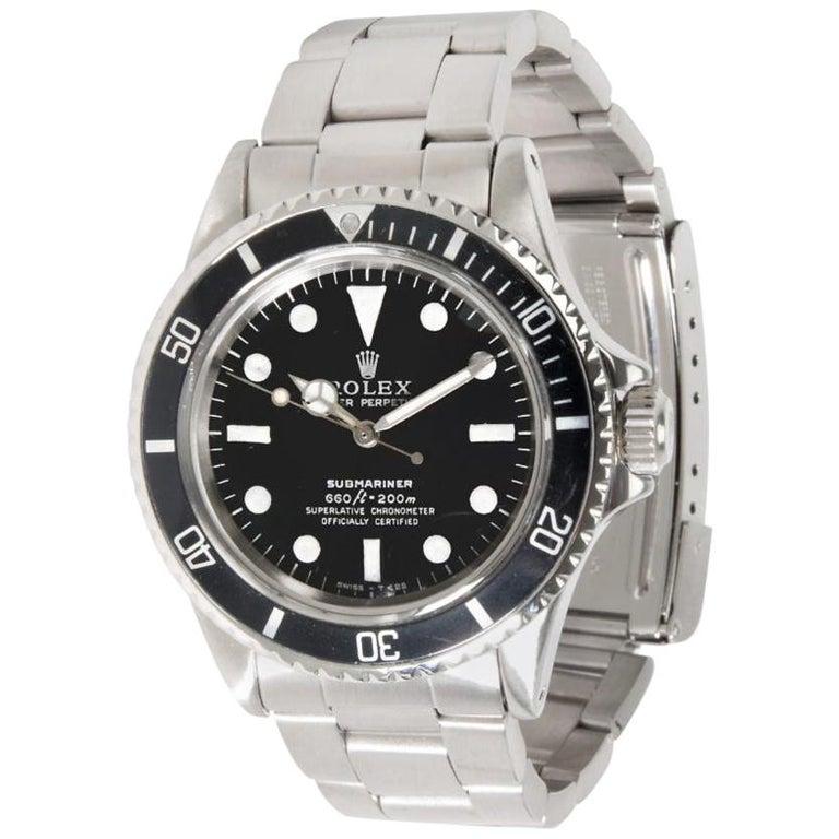 Vintage Rolex Submariner 5512/5513 Men's Watch in Stainless Steel For Sale