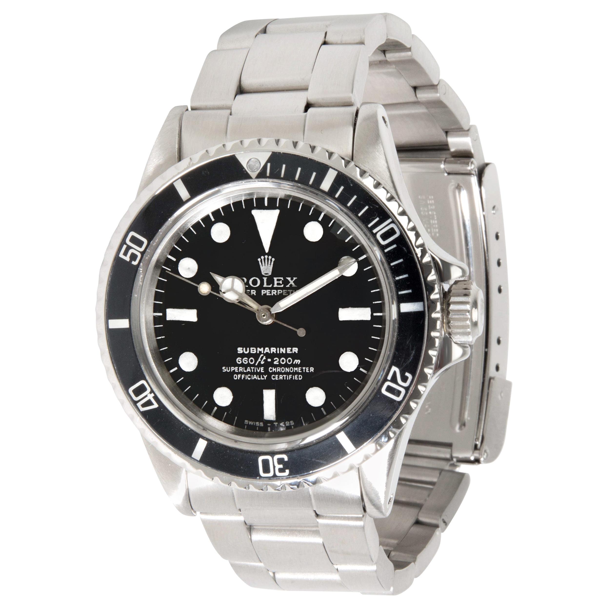 Vintage Rolex Submariner 5512/5513 Men's Watch in Stainless Steel