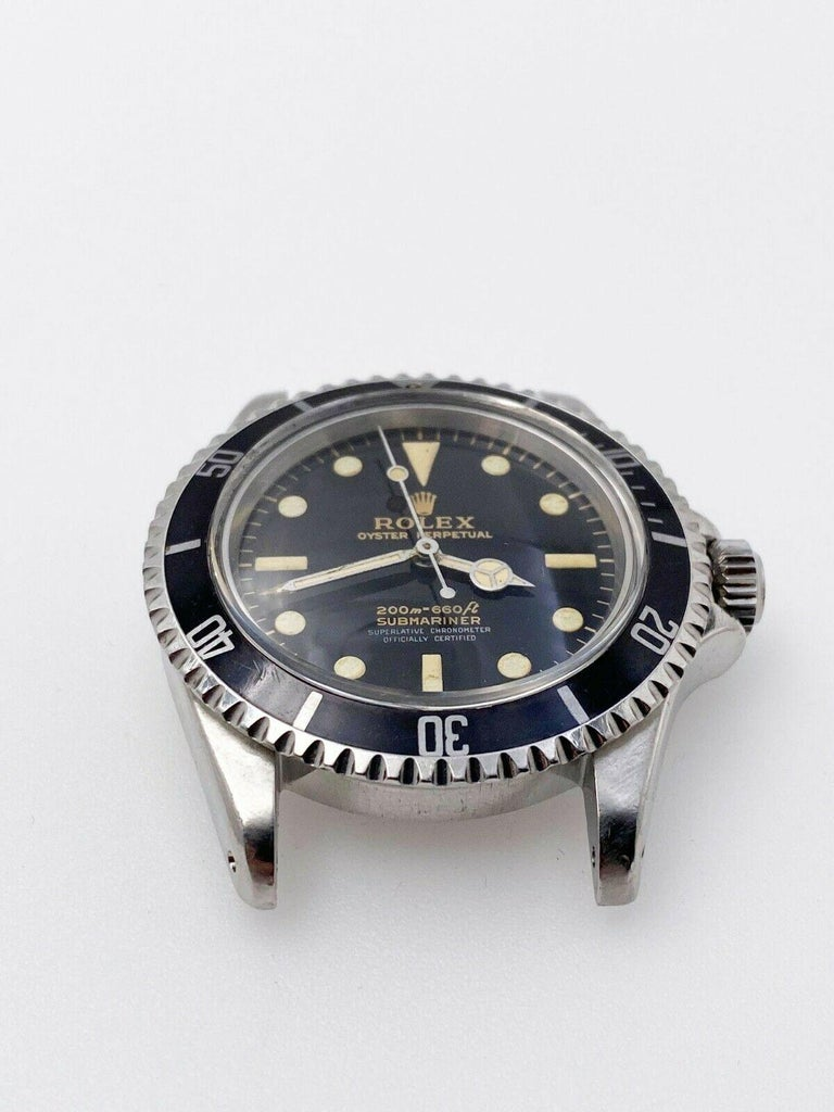 Vintage Rolex Submariner 5512 Stainless Steel Black Dial 1964 Glossy Dial In Excellent Condition For Sale In San Diego, CA