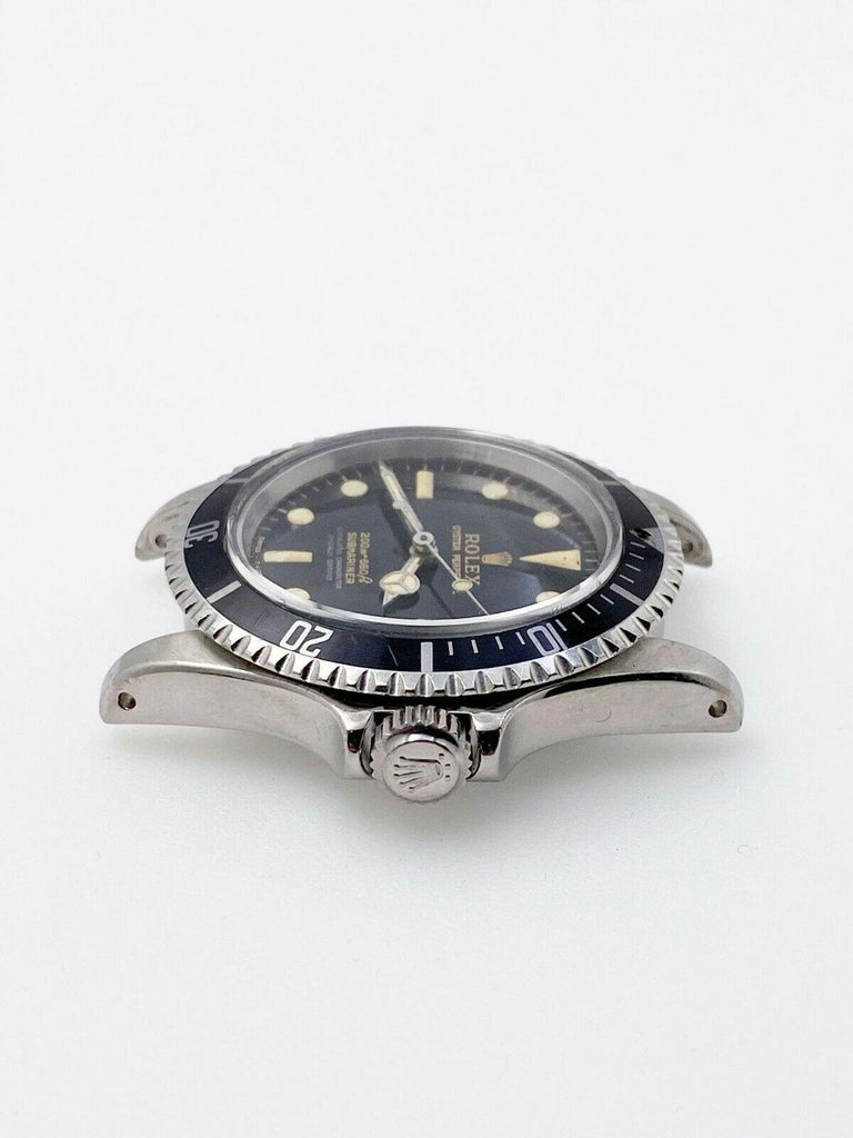 Vintage Rolex Submariner 5512 Stainless Steel Black Dial 1964 Glossy Dial For Sale 2