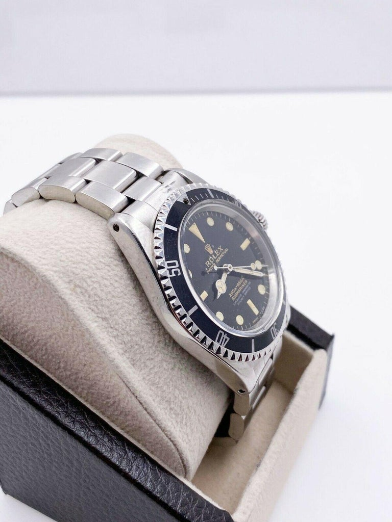 Vintage Rolex Submariner 5512 Stainless Steel Black Dial 1964 Glossy Dial For Sale 3