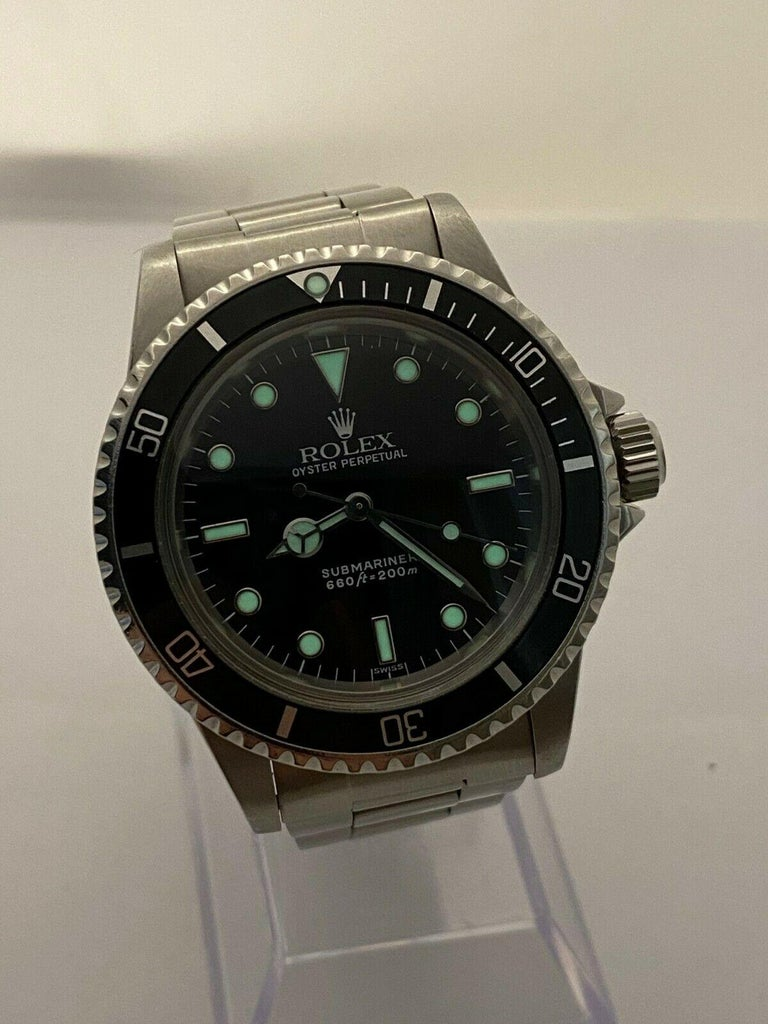 Vintage Rolex Submariner 5513 Black Dial Stainless Steel 1979 Mint Dial For Sale 2