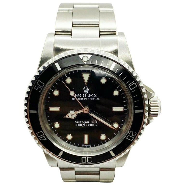 Vintage Rolex Submariner 5513 Black Dial Stainless Steel 1979 Mint Dial For Sale