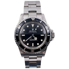 Vintage Rolex Submariner 5513 Black Dial Stainless Steel 1988 Unpolished
