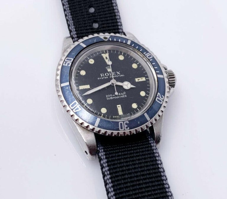 Vintage Rolex Submariner 5513 Black Matte Dial Stainless Steel, 1969 For Sale 1