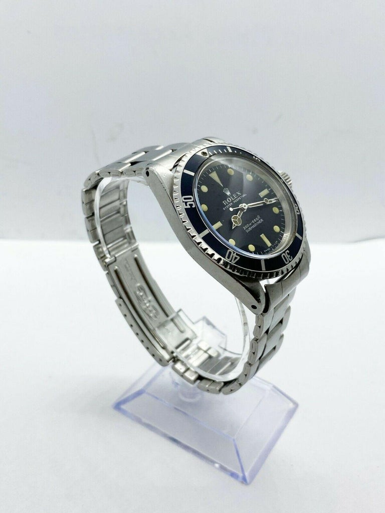 Vintage Rolex Submariner 5513 Stainless Steel Black Dial, 1967 In Good Condition For Sale In San Diego, CA