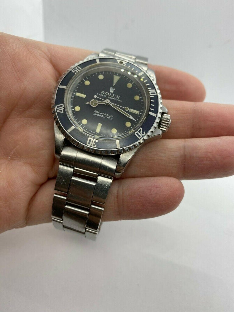 Men's Vintage Rolex Submariner 5513 Stainless Steel Black Dial, 1967 For Sale