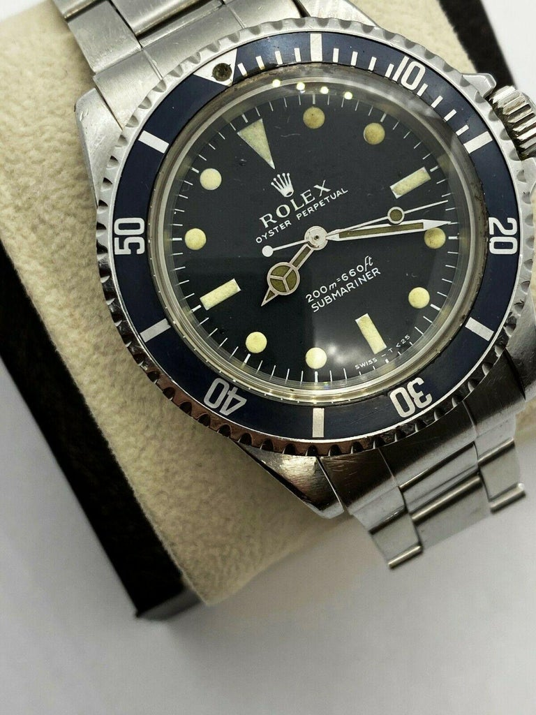Vintage Rolex Submariner 5513 Stainless Steel Black Dial, 1967 For Sale 1