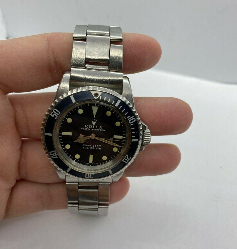 Vintage Rolex Submariner 5513 Stainless Steel Black Dial, 1967 For Sale 2