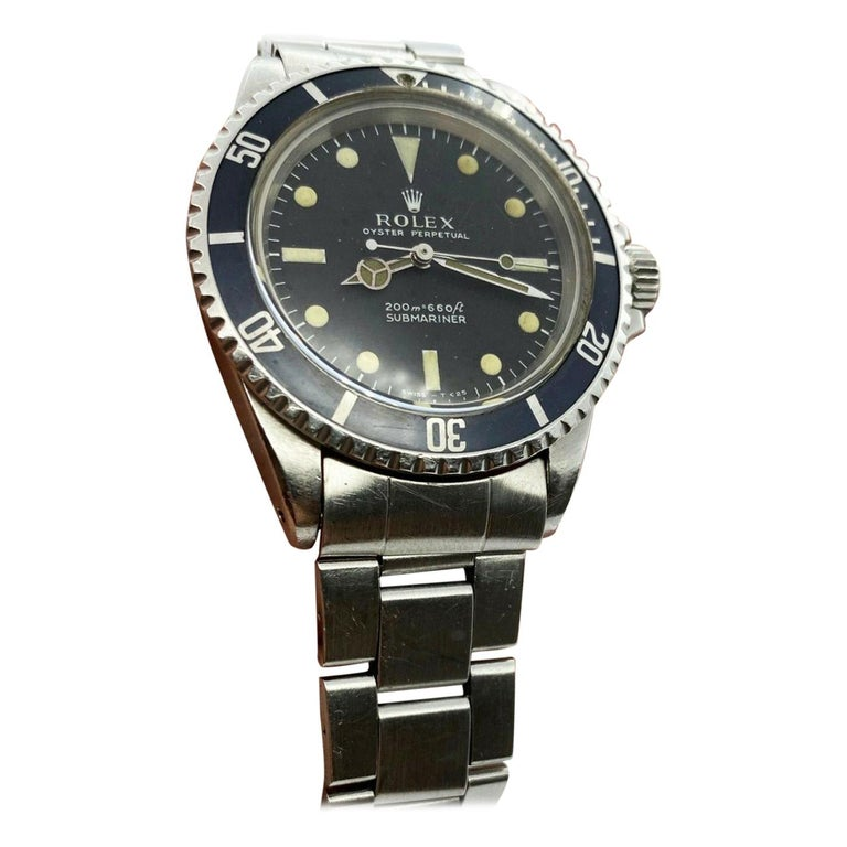 Vintage Rolex Submariner 5513 Stainless Steel Black Dial, 1967 For Sale