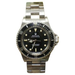 Vintage Rolex Submariner 5513 Stainless Steel Box and Papers, 1989