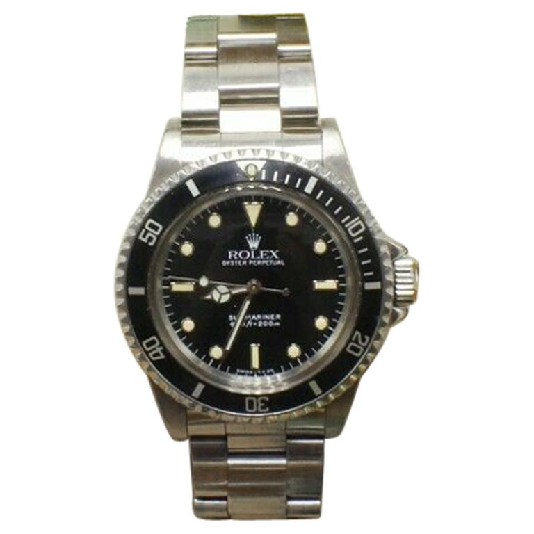 Vintage Rolex Submariner 5513 Stainless Steel Box and Papers, 1989 For Sale
