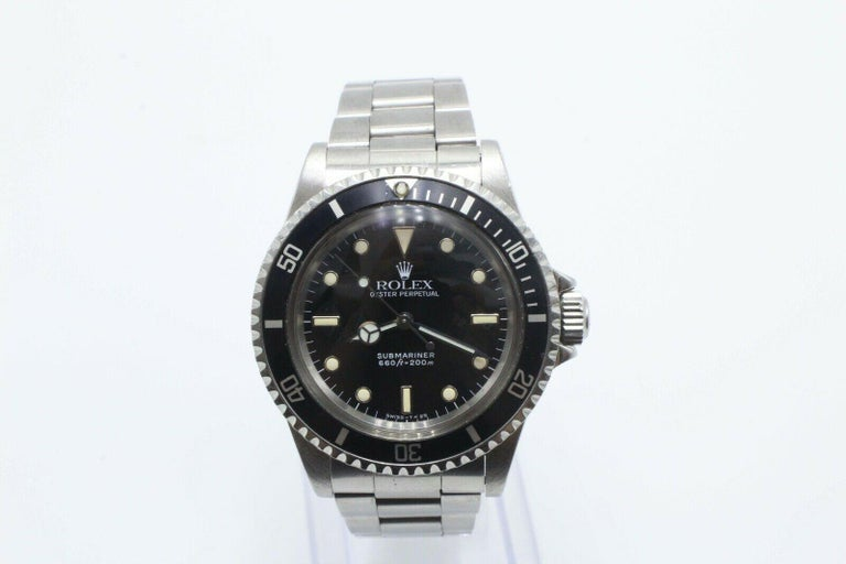 Vintage Rolex Submariner 5513 Stainless Steel Box and Papers, 1989 For Sale 1