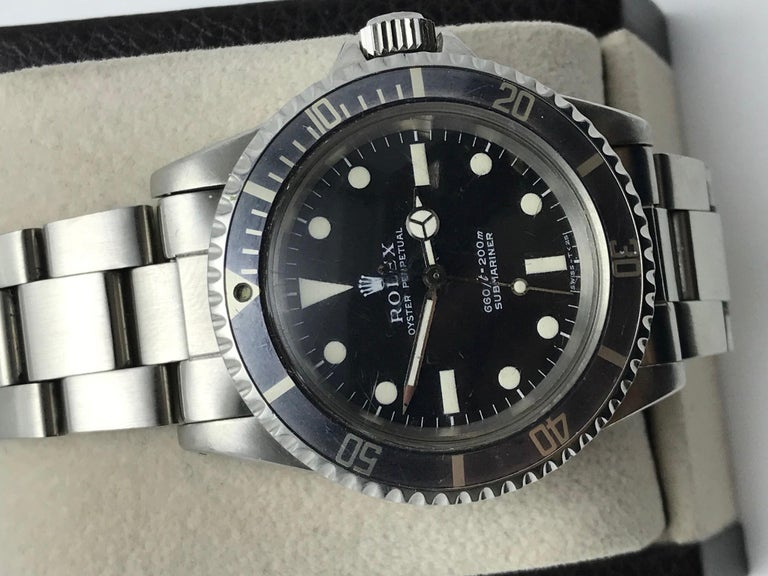 Vintage Rolex Submariner 5513 Stainless Steel Service Papers 1969 For Sale 7