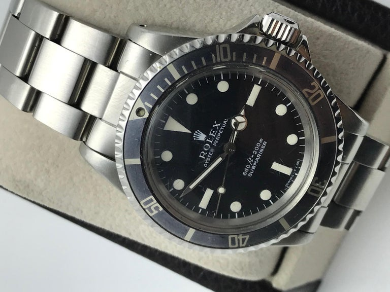 Vintage Rolex Submariner 5513 Stainless Steel Service Papers 1969 For Sale 8
