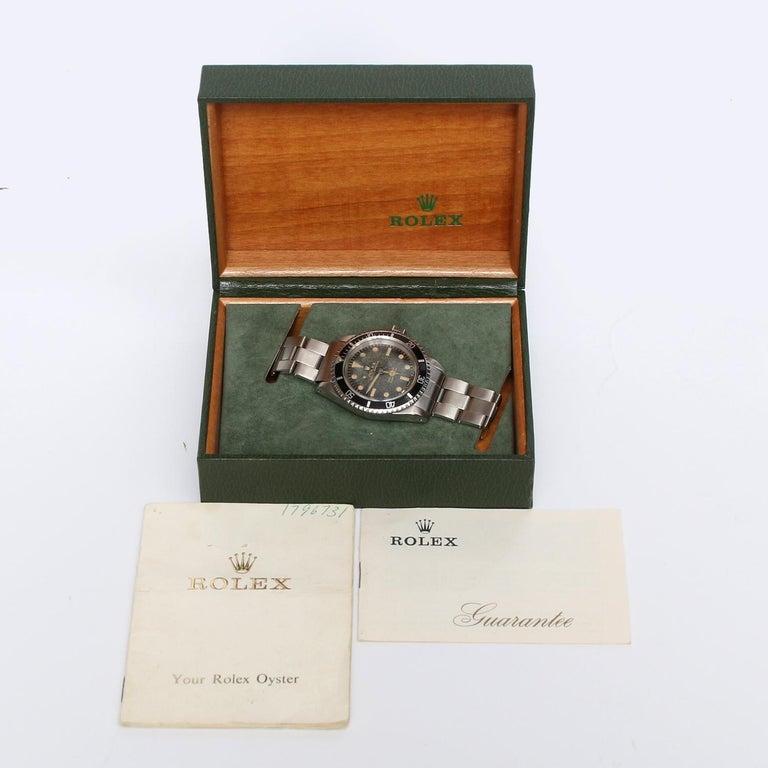 Vintage Rolex Submariner Gilt Dial Men's Automatic Watch 5513 For Sale 1