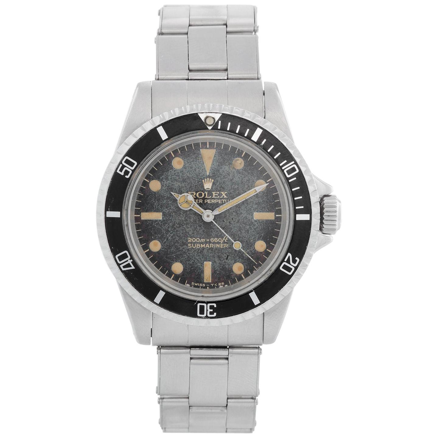 Vintage Rolex Submariner Gilt Dial Men's Automatic Watch 5513