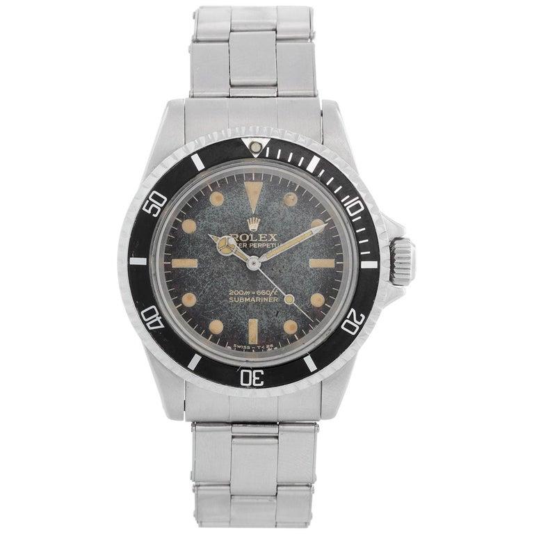 Vintage Rolex Submariner Gilt Dial Men's Automatic Watch 5513 For Sale