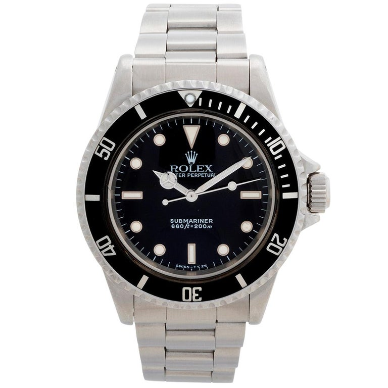 Vintage Rolex Submariner 'no date' Ref 5513. Box & Papers For Sale