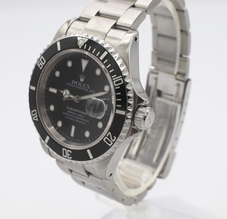 Women's or Men's Vintage Rolex Submariner Stainless Steel Reference 16610 For Sale