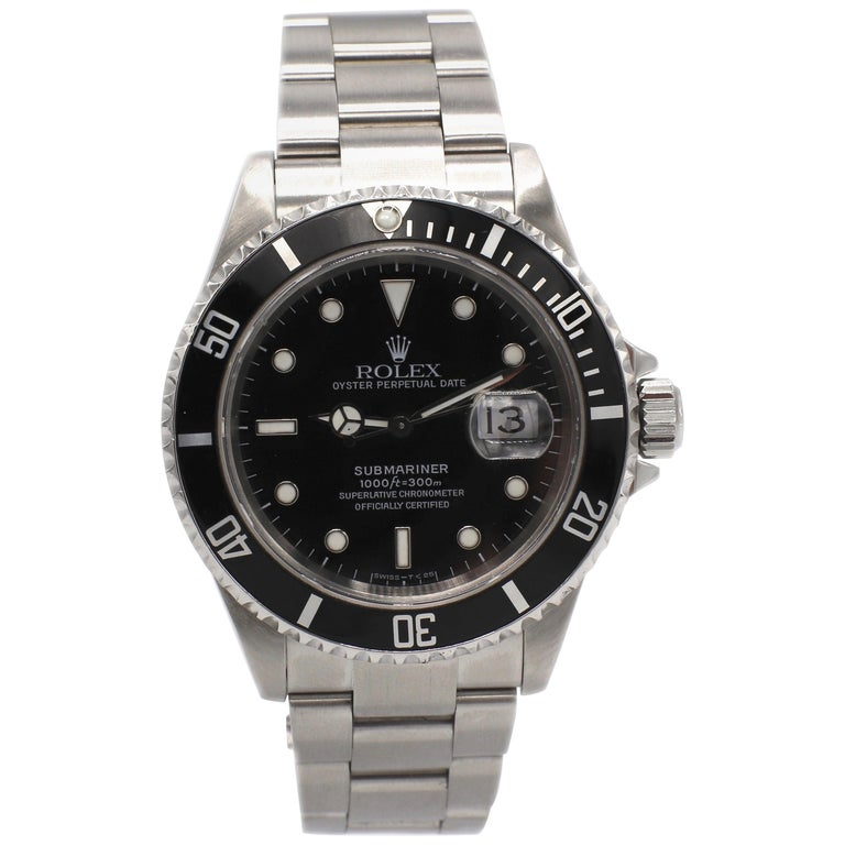 Vintage Rolex Submariner Stainless Steel Reference 16610 For Sale