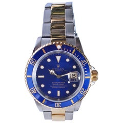 Vintage Rolex Submariner Two-Tone, 18 Karat Yellow Gold and Stainless Steel