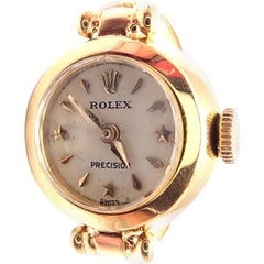 Vintage Rolex Triple Signed Yellow Gold Watch Ring