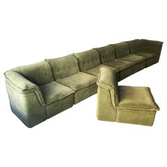 Vintage Rolf Benz Modular Sectional Sofa Suite, Germany, 1970
