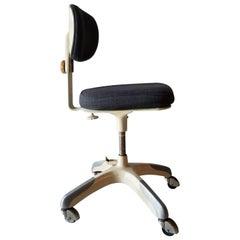 Vintage Rolling Industrial Cramer Tanker Office Desk Chair, 1950s