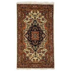 Vintage Romanian Accent Rug with Rustic Style