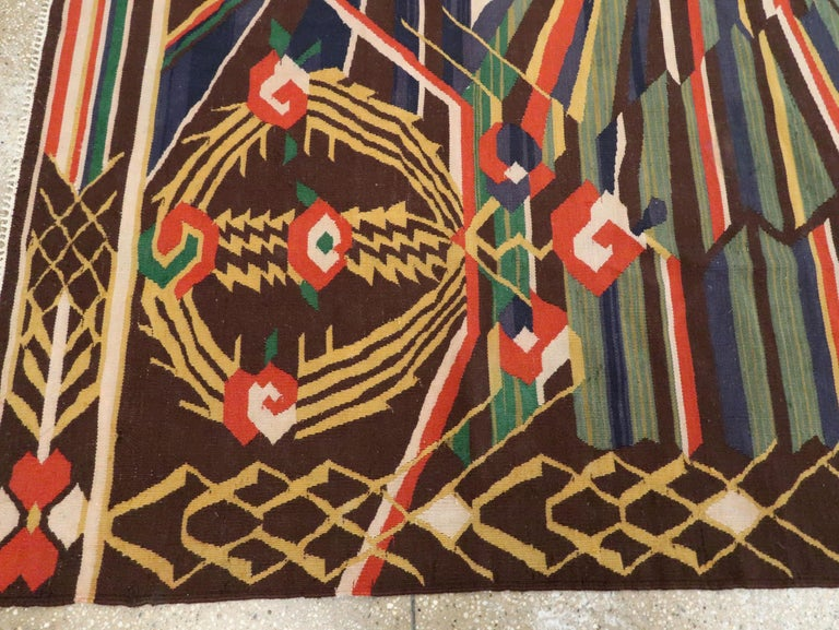 Vintage Romanian Flat-Weave Rug For Sale 3