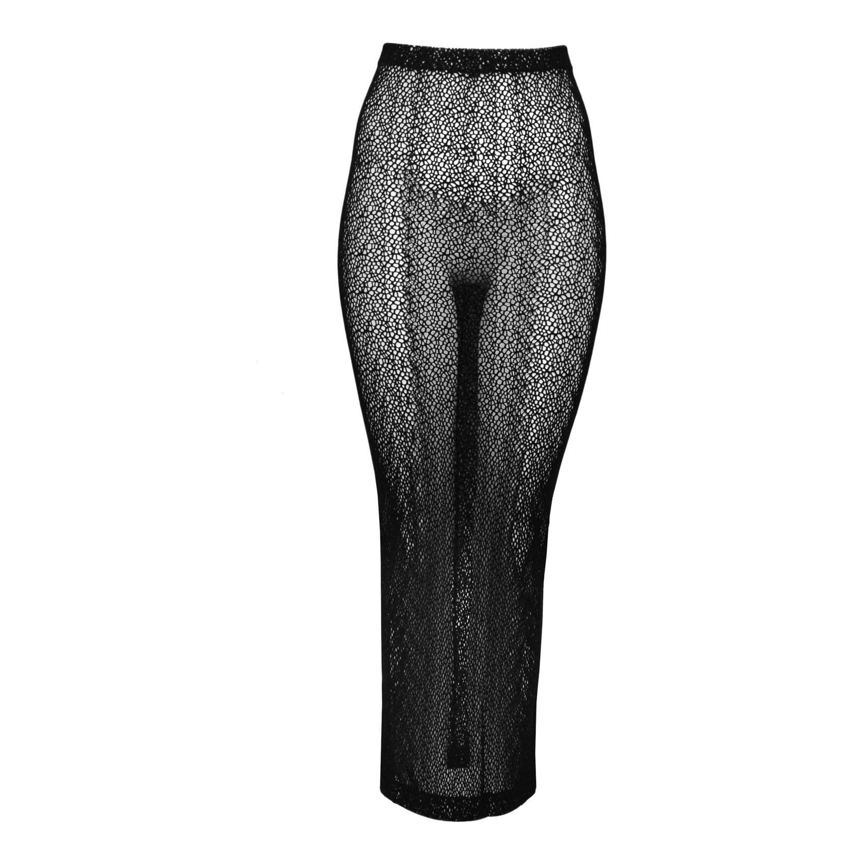 Vintage Romeo Gigli Black Mesh Skirt