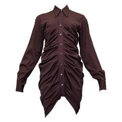 Vintage Romeo Gigli Purple Pleated Shirt Dress