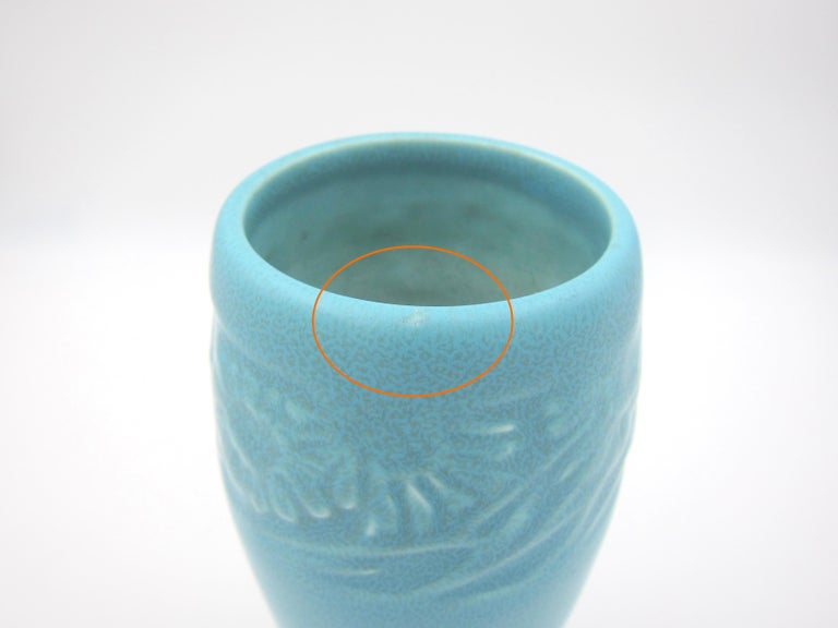 Vintage Rookwood Pottery Arts & Crafts Sunflower Vase, 1930 4