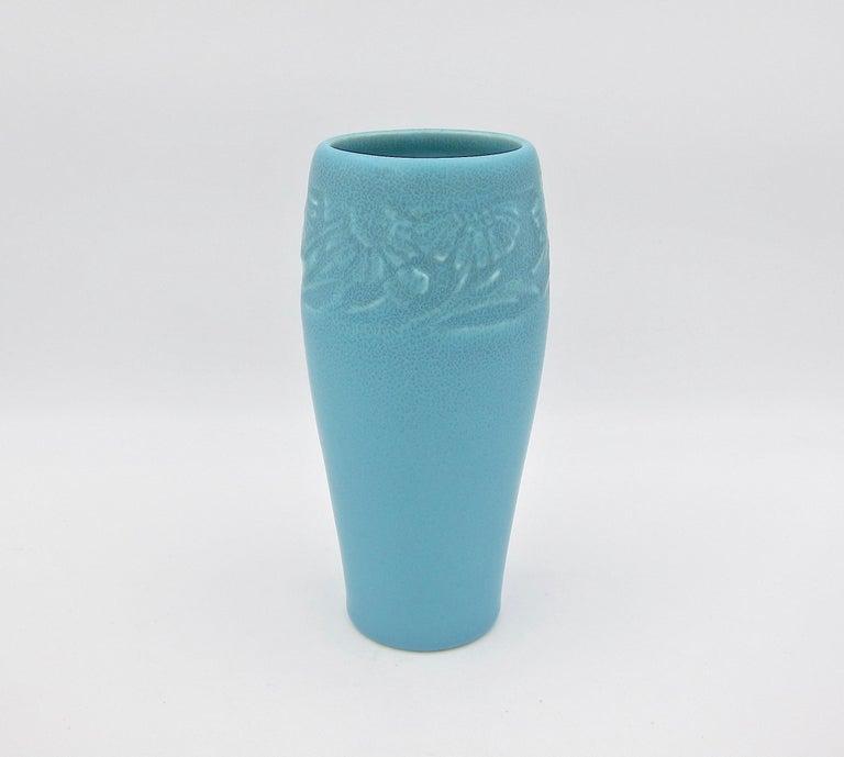 Arts and Crafts Vintage Rookwood Pottery Arts & Crafts Sunflower Vase, 1930
