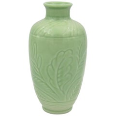 Vintage Rookwood Pottery Vase with Glossy Green Glaze, 1935